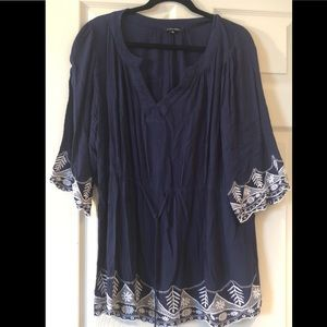 Navy and White Papermoon Tunic